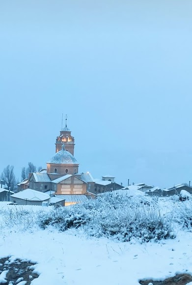 Bellísima imagen de Oria nevada, foto de Ginés Reche.