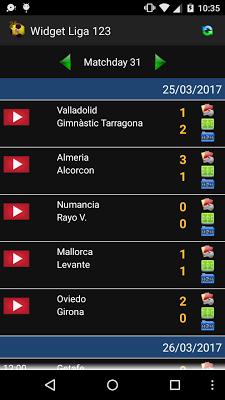 Widget League 123 2016/17 - screenshot