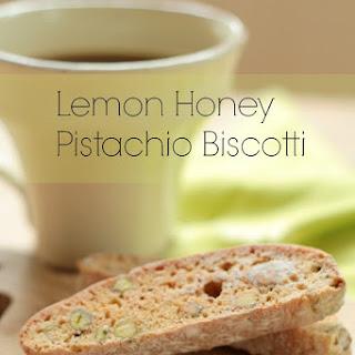 Lemon Honey Pistachio Biscotti
