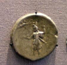 Photo: Porus medallion celebrating Alexander's victory. 325 BC - reverse