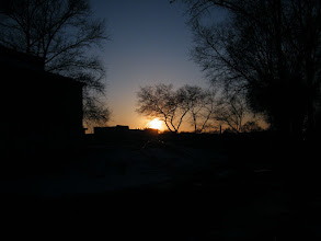 Photo: a bright sunset near QRRS front space.