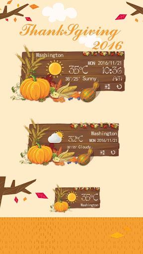 Thanksgiving GO Weather Widget screenshot