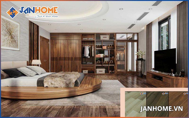 Sàn gỗ Đức mang lại vẻ đẹp sang trọng cho mọi không gian biệt thự