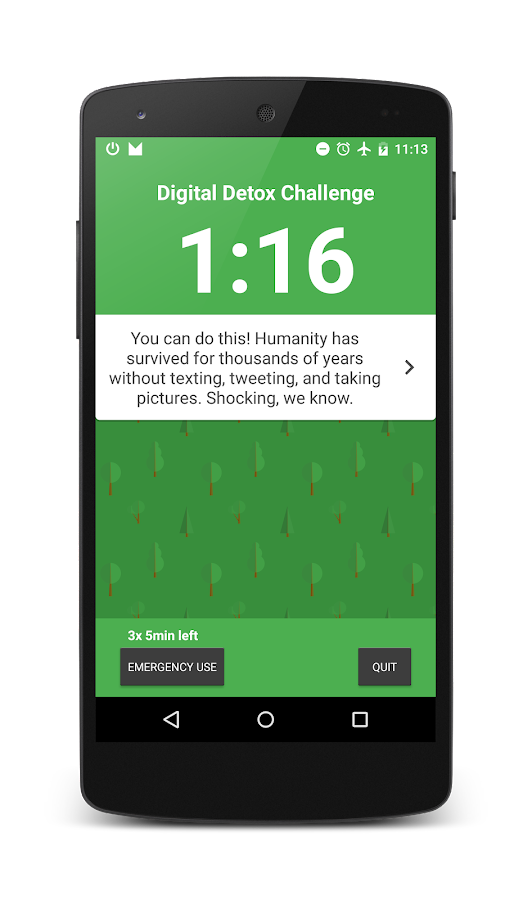 Digital Detox Challenge- screenshot