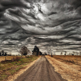A Road to Trouble by Danny Pickens - Landscapes Cloud Formations ( clouds, landscape )