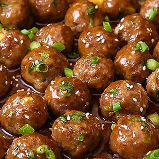 Saucy Teriyaki Meatballs.
