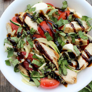 Chicken Caprese Zoodle Bowls Recipe
