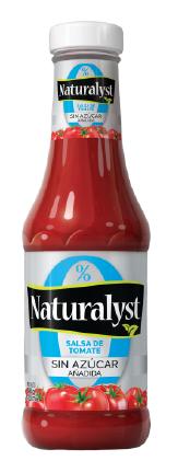 ketchup naturalyst sin azúcar 340 gr