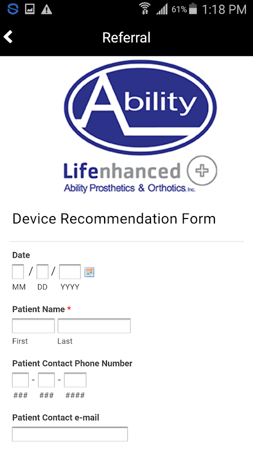 Ability Prosthetics & Orthotic- screenshot