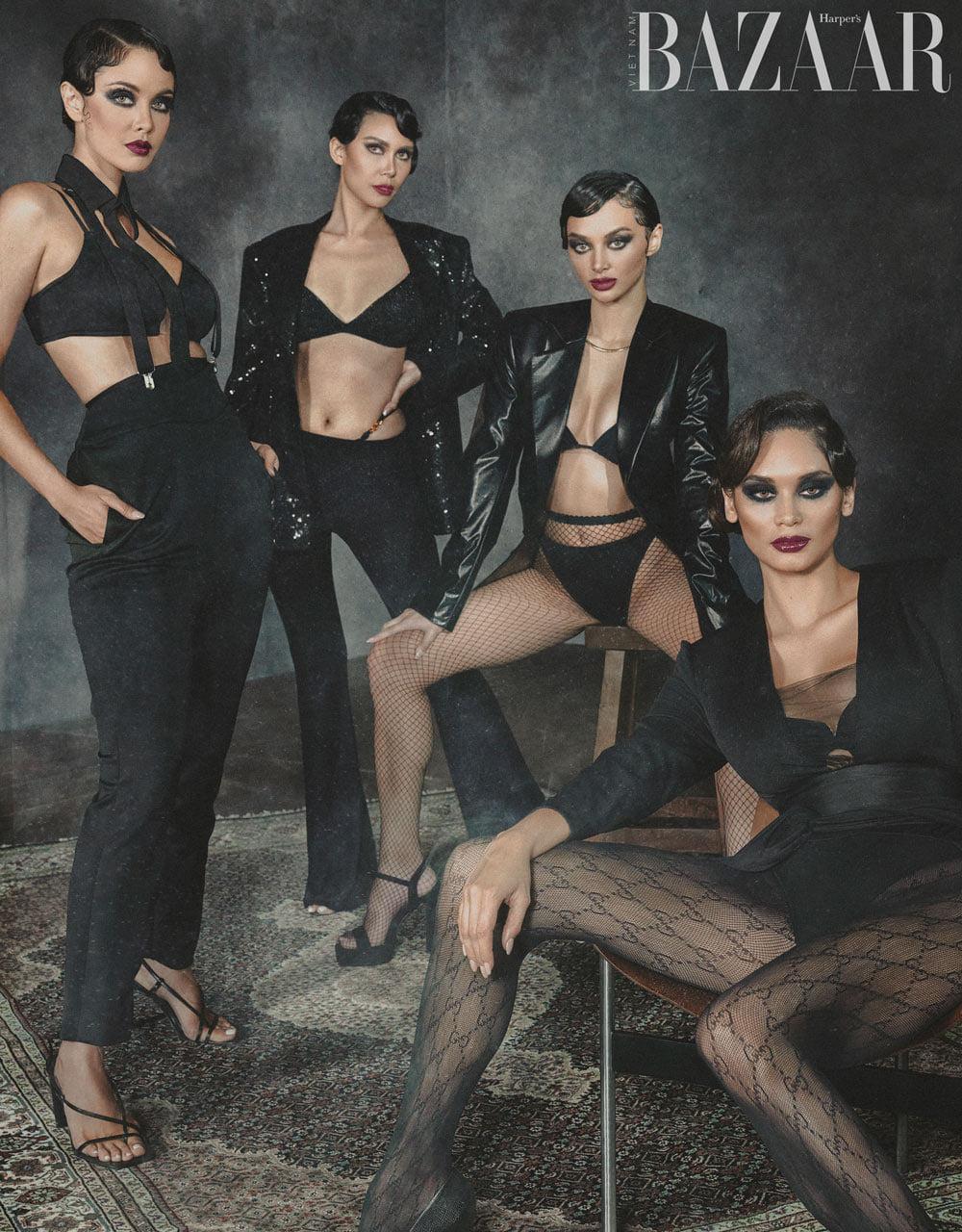 Tứ đại Hoa Hậu Philippines đọ sắc trên bìa tạp chí thời trang