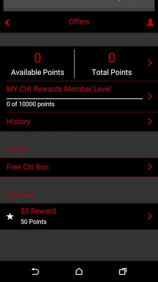MY CHI Rewards Loyalty Club- screenshot
