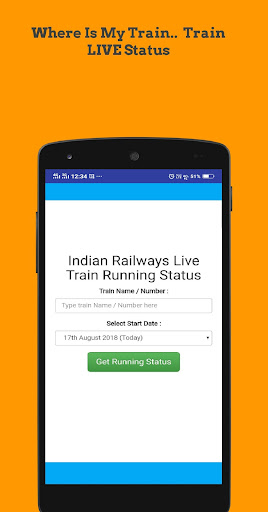 Indian Train Status App Report on Mobile Action - App Store