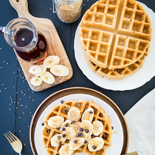 Crisp Miso-Tahini Waffles, Two- Ways