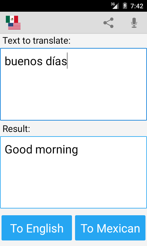Mexican English Translator - Android Apps on Google PlayMexican English Translator- screenshot