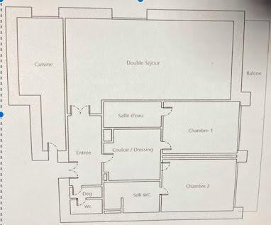 Location appartement 4 pièces 111,16 m2