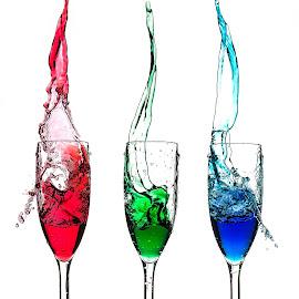Trio Splash by Muhannad Salem - Artistic Objects Glass ( splash )