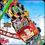 Christmas Roller Coaster 3D Icon