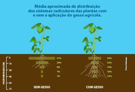 comparação do uso do gesso agrícola