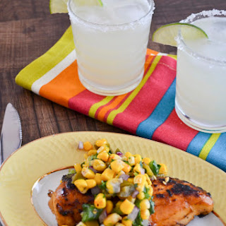 Tequila Lime Chicken topped with Corn Salsa