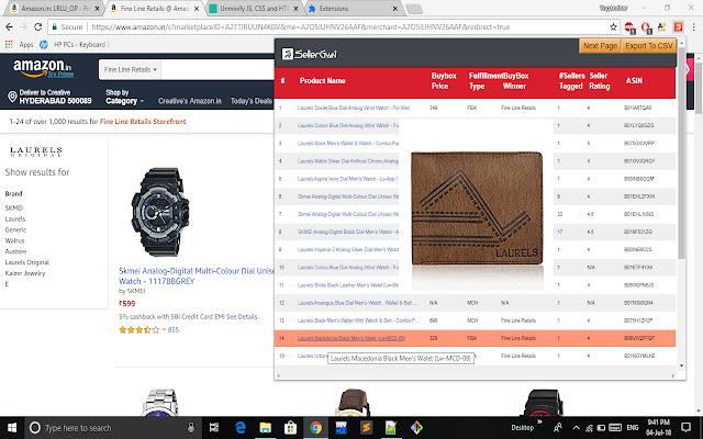 Amazon Buybox Tool