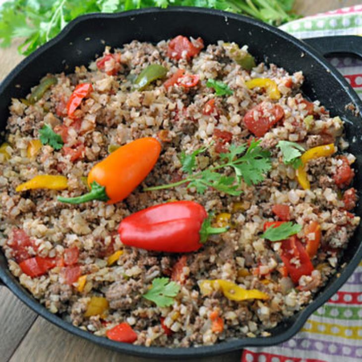 Tasty Cauliflower Rice and Ground Beef Skillet