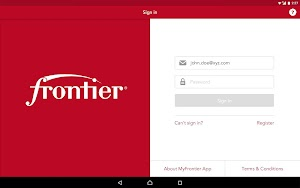 5 MyFrontier App screenshot