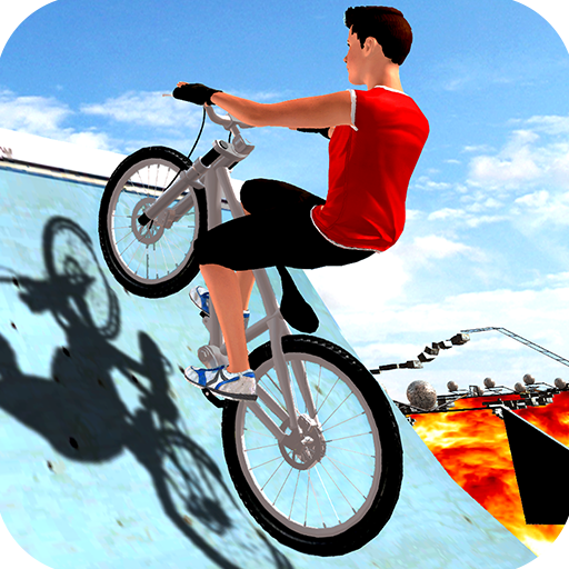 BMX Bicycle Impossible Tracks: Floor Is Lava