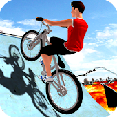 BMX Bicycle Impossible Tracks: Floor Is Lava stunt