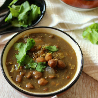 Kala Chana Shorba / Black Chickpeas Soup