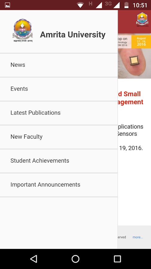 Amrita University- screenshot