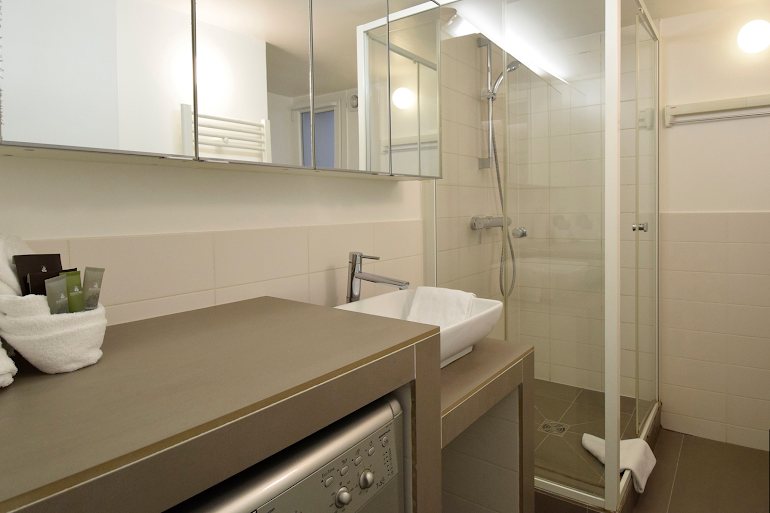 Luxury bathroom at Marais & Palais Royal Serviced Apartment, Opera