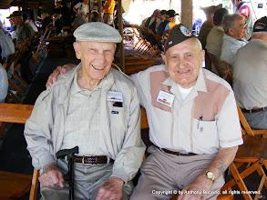 Photo: Richard Hamleton, 13th Airborne, Willloughby, Ohio; Ed Barkeiewicz, 5th Rangers, Parma, Ohio (brother killed at Iwo Jima)