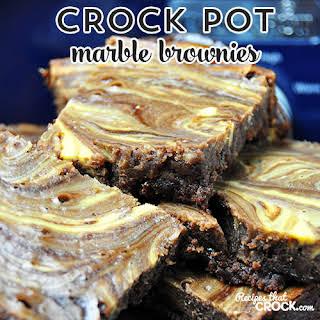 Crock Pot Marble Brownies.