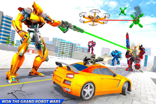 Drone Robot Car Transforming Game– Car Robot Games 1.0 screenshots 1