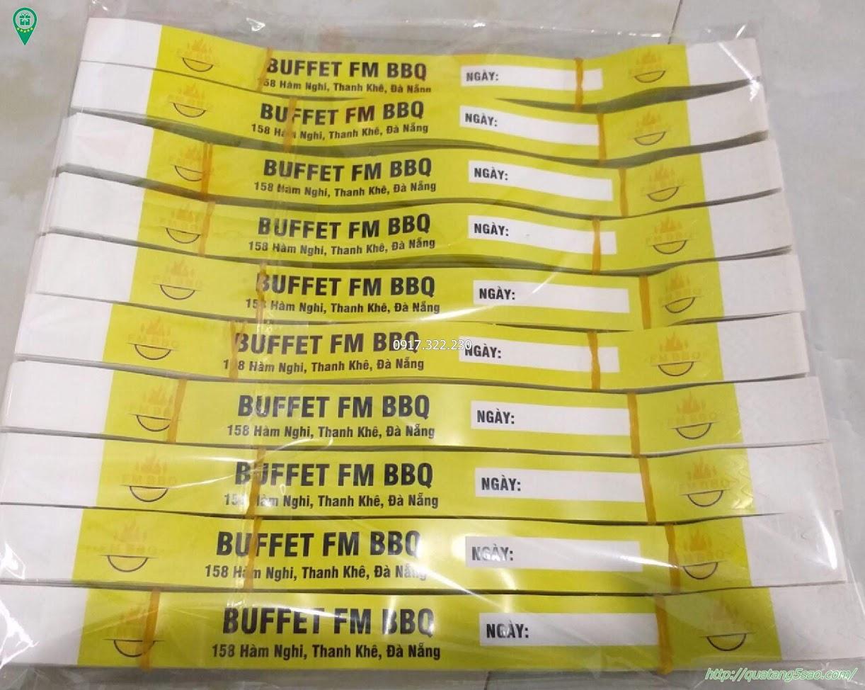 Vòng tay giấy dùng một lần - Buffet FM BBQ