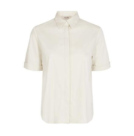 Mos Mosh Marta jersey shirt short sleeve ecru