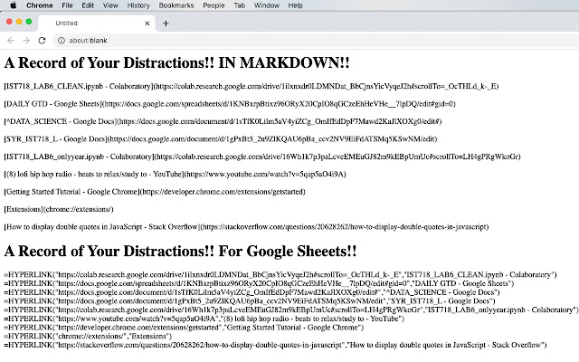 TABS AS MARKDOWN