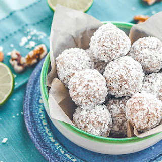 Low Carb Coconut Lime Truffles.