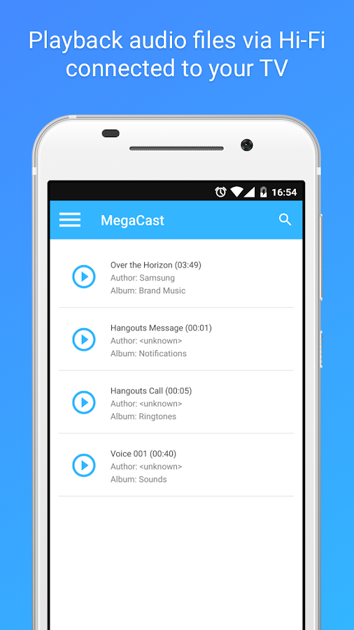 MegaCast - Chromecast player- screenshot