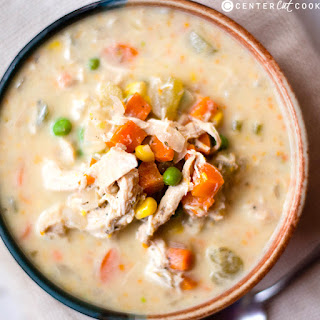 Slow Cooker Healthy Chicken Pot Pie Stew.