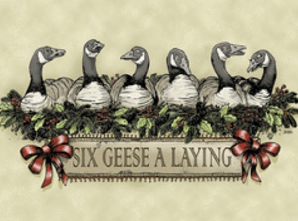 Six Geese A-Laying = the six days in which God created the world