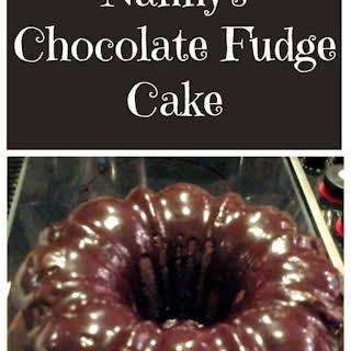 Nanny's Chocolate Fudge Brownie Cake.