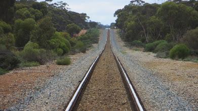 Photo: No train on the track