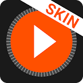 MusiX Material Dark Orange Skin for music player
