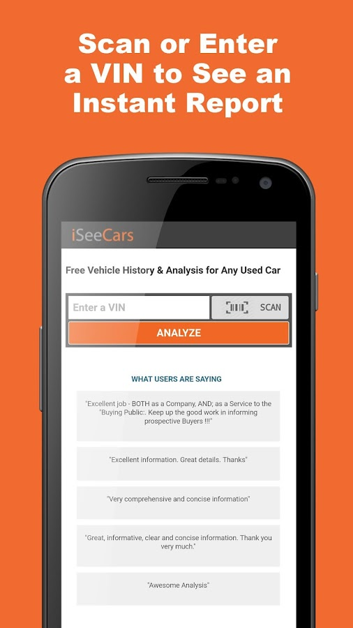 Free Car History Report >> Free Vin Check For Used Cars Android Apps On Google Play