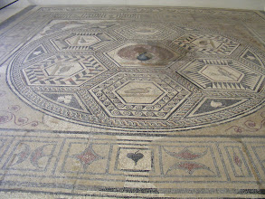 Photo: And here's the almost-2000-year-old mosaic itself.