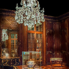 The Vase by William Kauffman - Buildings & Architecture Other Interior ( chandelier, museum, traditional room, desk, vase )