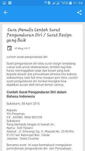 Download Contoh Surat Pengunduran Diri Google Play Softwares