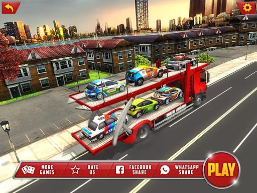Vehicle Transporter Trailer Truck Game 1.4 screenshots 6