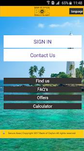 Bank of Ceylon Mobile Banking - náhled